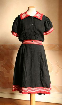 Another two piece bathing suit, this one from 1909.