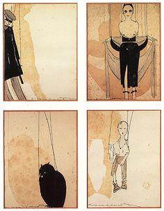 Ilustrações de Fantoches da Meia-Noite