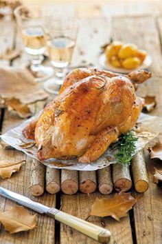 Ψητό κοτόπουλο με δενδρολίβανο πατάτες