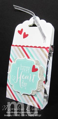 I have a quick little treat holder for you today. This one is decorated for Valentine's day but it's a perfect idea for any holiday. I happened to have Whisper White strips left over from the Owl ...