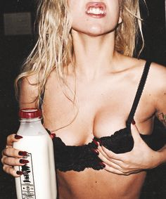 party scene - to shock, to provoke a little bit em.. lol but instead of milk we need vooodka.. glamourise alcohol.