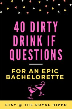 Heading to Sin City and Need the perfect game? Grab this x-rated bachelorette party game - 40 dirty drink if questions for an epic night and Vegas weekend. Bachelorette Drinking Games, Vegas Bachelorette, Las Vegas, Wedding Gifts For Couples, Personalized Wedding Gifts, Wedding Photo Booth Props, Printable Bridal Shower Games, Bridal Shower Party, Perfect Game