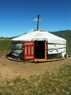 The Yurts of Mongolia from whence Genghiss Khan and Kublai Khan sprung. Largest land empire to date upon the Earth