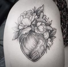 Image result for anatomical heart within a heart tattoo