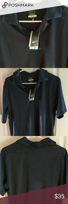 Nike Dri-Fit Golf Polo NWT Navy blue men's Nike golf polo.   🌟Smoke free home 🌟No Trades 🌟09011200 Nike Shirts Tees - Short Sleeve