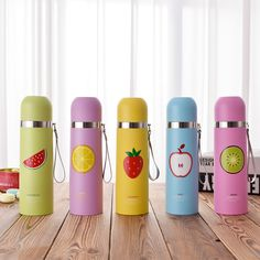 CNACNOO Candy Colorful Lovely Thermos Bottle Stainless Steel 304 Vacuum Flasks Tea Coffee 350ml 500ml Drinkware Water Bottles