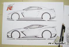 2016 Nissan GT-R #rendering #sketches #pratyushrout