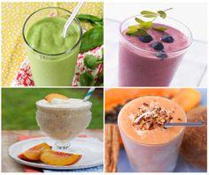Te compartimos 10recetas de smoothies (batidos), fáciles de preparar, para disfrutar de un desayuno natural, saludable y energético.