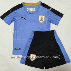 maglie calcio home Bambini Uruguay 2016