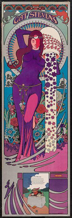 Cat Stevens ..... 1971 ... Tower Records promotional poster for Tea for The Tillerman .