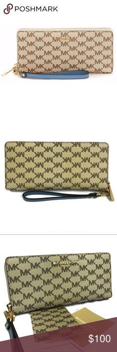 61ffbfb66f68 Michael Kors Studio Logo Print Continental Wallet Part of Michael Kors Jet  Set Travel collection of