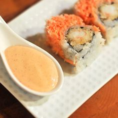 Spicy Mayo for Sushi Recipe  ***add a bit of sesame oil and it's exactly how it should taste!***
