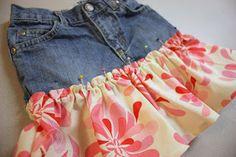 Re-purposing: Twirly Jean Skirt | Make It and Love It
