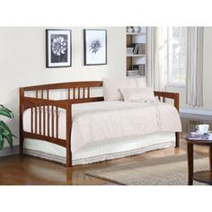 Dorel Wooden Daybed, Walnut $159 at Walmart