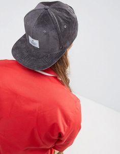 e04b717a965 ASOS Snapback Cap In Charcoal Cord - Gray Snapback Cap