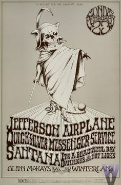 Jefferson Airplane  Quicksilver Messenger Service  Santana  It's A Beautiful Day  Dan Hicks & His Hot Licks    2/23/1970	Randy Tuten.  Wow, what a show that must have been.