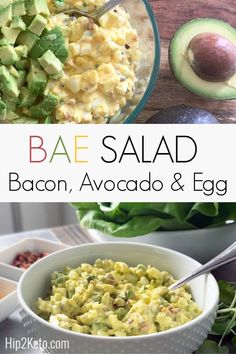 Low-Carb Bacon, Avocado,