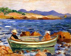 Henri MANGUIN La barque