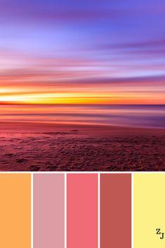Zj colour palette 1201 co Sunset Color Palette, Pastel Colour Palette, Sunset Colors, Colour Pallette, Pastel Colors, Yarn Color Combinations, Blue Color Schemes, Color Harmony, Color Balance