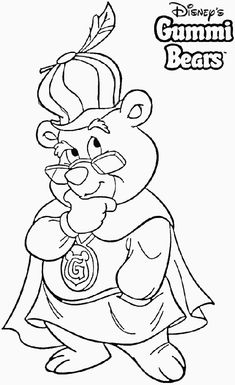 gummie bears coloring pages pinterest gummi bears and bears