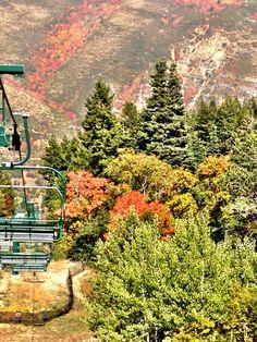 Park City, Utah in the fall