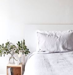 Stonewashed linen love - want this in my bedroom