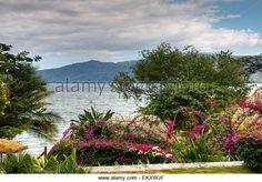 View over lake Apoyo near Granada, Nicaragua - Stock Image