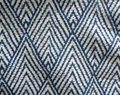 tahitian stitch sapphire IKAT BLUE  designer, drapery/bedding/upholstery ikat fabric