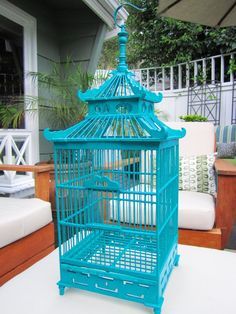 Provide a harmony for your little bird pet Pols Potten Pagoda Blue Bird Cage