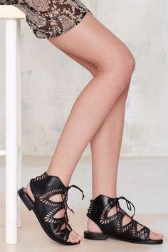 Dolce Vita Deklon Leather Gladiator Sandal   Shop Shoes at Nasty Gal!