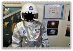 Space themed ideas from Growing in PreK, love the dramatic play ideas!  Awesome!
