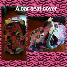 Universal carseat canopy make by Esther Fortis