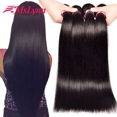 Brazilian Virgin Hair 4 Bundles Straight Human Hair 7A Unprocessed Brazilian Hair Weave Bundles Cheap Brazilian Straight Hair