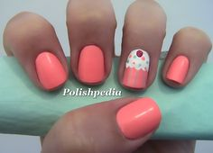 Pink Cupcake Nail Art | Polishpedia