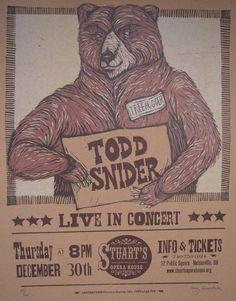 Todd Snider Poster by justajar on Etsy, $25.00