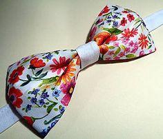 Jarná lúka motýlik / Handmade bowtie