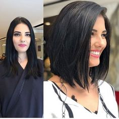 Thick hair styles, Short hairstyles for thick hair, Short hair color, Hair colours Hair, Hair styles - Best Short Hairstyles for Thick Hair 2019 - Short Hairstyles For Thick Hair, Haircut For Thick Hair, Curly Hair Styles, Short Wavy, Medium Short Haircuts, Thick Hair Styles Medium, Straight Haircuts, Long To Short Hair, Medium Bob Hairstyles