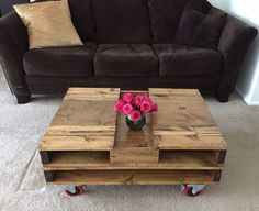 Industrial coffee table with storage box by BlackIronworks, $375.00 USD