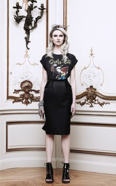 Shop Satin Duchesse Pencil Skirt With Back Ruffle by Givenchy Now Available on Moda Operandi