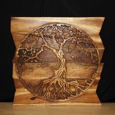 wall decor tree of life carved wood home decor
