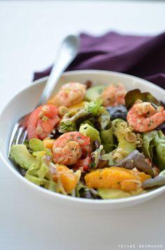 Garnelensalat, Mango, Avocado und Zitronengras von Voyage Gourmand, via Flick . Clean Eating Recipes, Raw Food Recipes, Veggie Recipes, Vegetarian Recipes, Cooking Recipes, Healthy Recipes, Healthy Cooking, Healthy Eating, Mango Salat