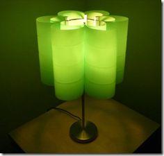 Recycled 2-liter bottle lamp