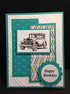 Guy greetings masculine birthday card stampin up rubber a guy greetings masculine birthday card bookmarktalkfo Image collections
