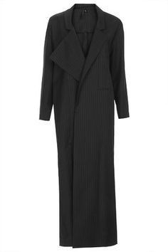 This duster coat is the new leather coast, this one is perfection on a budget… #topshop #blackcoat #dustercoat