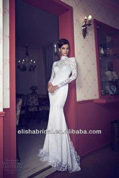 white lace long sleeve wedding dress | ... Back Lace Sheath Tight Sexy White 2014 Long Sleeve Wedding Dresses