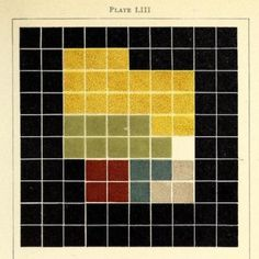 Colour analysis chart from an Ancient Egyptian mummy case. The work of American artist Emily Noyes Vanderpoel (1842-1939) and featured in her 1902 book Colour Problems. See more on the site. #thepdr #publicdomainreview #colour #color #egypt #mummy #abstract #art #destijl #tetris