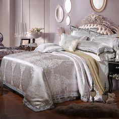 MAJESTY 4-Piece Luxury Sheets Duvet Cover Set, Queen, Double/Full   Home & Garden, Bedding, Duvet Covers & Sets   eBay! #DoubleBedSheets