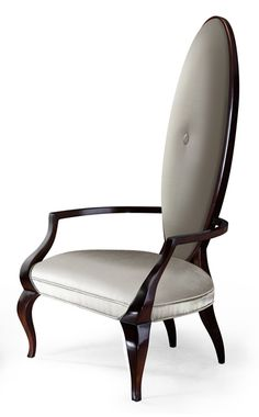 Magnificent, yet subtle, this timeless tall back accent chair delights the senses on its own or as pair. New Classic Furniture, New Furniture, Table Furniture, Furniture Design, Christopher Guy, Church Conversions, French Chairs, Second Floor, Old And New
