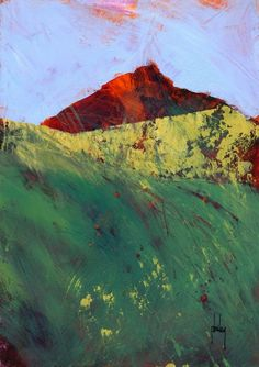 Mountainscape-1/acrylic on paper/7 x 10 inches/2013. Paul Bailey