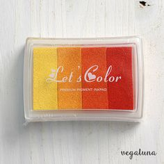 Tinta para sellos scrapbooking multicolor amarillo